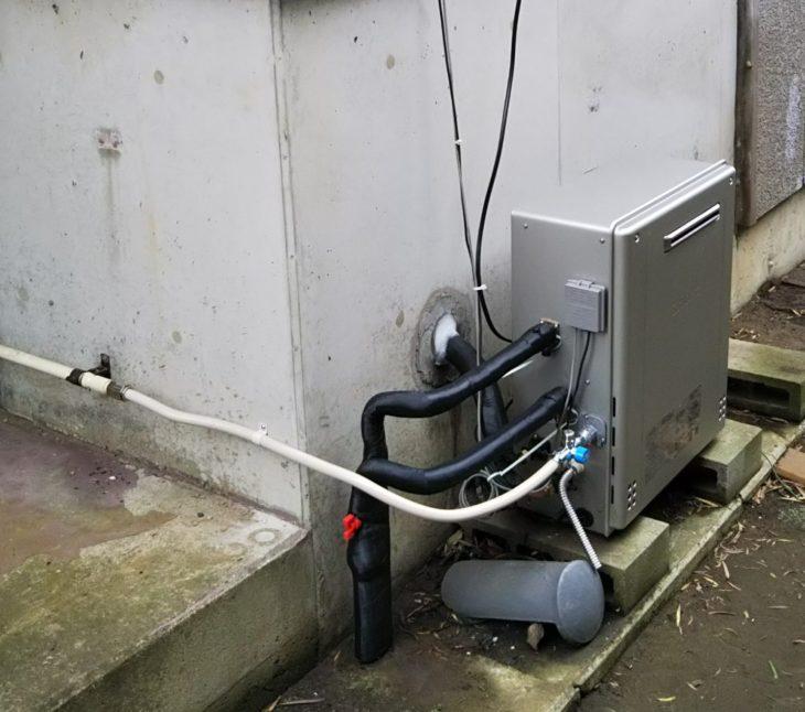 燃転工事(石油給湯機からガス給湯器へ)